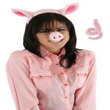 Pig Piggy Costume Kit Ears Headband & Tail Cute Sexy Animal Adult Halloween