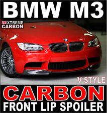 BMW M3 V Style Carbon Front Lip Spoiler Splitter fits E90 E92 E93