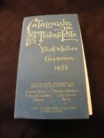Catalogue Timbres Poste Yvert & Tellier Champion 1924