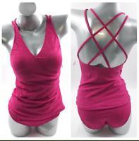 TROPICAL ESCAPE Vivacious Pink Tankini Top only Plus size 20