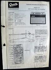 Historische Radio-Anleitung ~Graetz Page 45 F~ Kofferradio 1964 original Manual