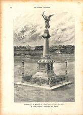 Colonne monument de la Victoire à Dunkerque d'Édouard Lormier ILLUSTRATION 1893