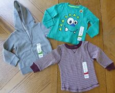 NEW 2T/ 24 Month Boy Hoodie & Top LOT $38 retail Dragon Neutral sweatshirt NWT