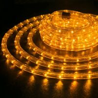 "Orange 3/8"" LED Rope 110V Wire Flexible Light Outdoor 10' 20' 25' 50' 100' 150'"