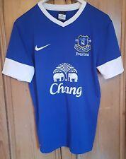 everton match worn nike blue football shirt 2012/13 home shirt francisco junior