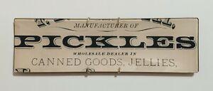 John Derian Signed Rectangle Tray Plate Decoupage Pickles Wholesale Dealer Goods