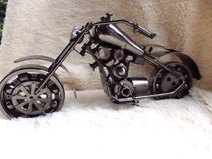 Chopper trail bike Scrap Metal Art Handmade Nuts & Bolts Dirt Bike model