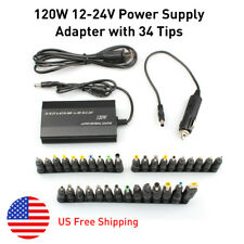 120W 34 Tips Car Home Charger Power Supply Adapter for Laptop Notebook Universal