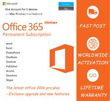 Microsoft Office 365 cuenta de por vida para dispositivos 5-Mac, Windows y móvil