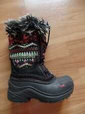 THE NORTH FACE TODDLER GIRLS KNIT WINTER SNOW BOOTS, SZ 13
