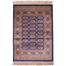 Hallway Runner Carpet Rug Blue 100cm x 137cm Viscose Chiraz 8438-9 Persian New