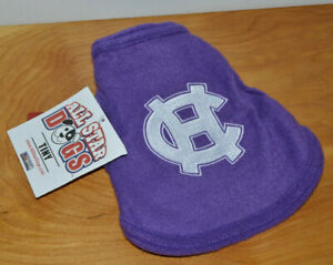 DOG SHIRT HOLY CROSS CRUSADERS NCAA COLLEGE TEAM SIZE TINY CLOTHES PULLOVER