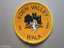 Eden Valley Walk 15m Walking Hiking Cloth Patch Badge