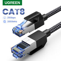 Ugreen Cat 8 Ethernet Cable 40Gbps RJ45 LAN Network Patch Gaming Cord Heavy Duty