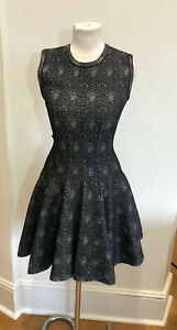 Alaia Black Flare Dress With With Dotts FR38
