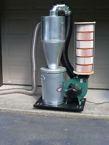 Cyclone Separator - 4 inch inlet on left, made from galvanized steel