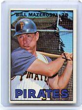 1967 TOPPS BASEBALL #510 BILL MAZEROSKI, PITTSBURGH PIRATES, HOF, 062916