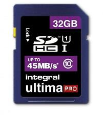 32GB Integral Ultima Pro SDHC 45MB/sec CL10 UHS-1 High-Speed memory card