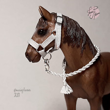 Breyer Peter Stone  Schleich collecta custom halter   bead colorful six leather