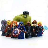 8pcs/lot Avengers Hulk Thor Captain Iron-man Black Widow Building Blocks Toy