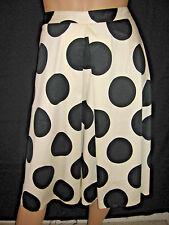 NWT Lane Bryant Black & White Polka Dot Midi Skirt Women's Plus Size 26