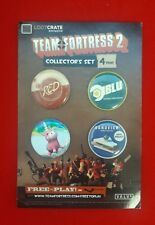 Loot Crate Exclusive May 2015 Team Fortress 2 Collector's Set Of 4 Pins