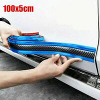 1M Anti-collision Strip Carbon Fiber Rubber Car Door Sill Edge Protector Sticker