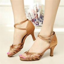 SUN LISA Women's Lady's Girl's High Heels Latin Salsa Tango Ballroom Dance Shoes