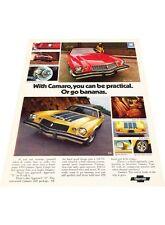 1974 Chevrolet Camaro Z28 - Vintage Advertisement Car Print Ad J397