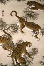 "An Alexander Henry Cotton, Asian Tigers Stalking, 31""x44"""