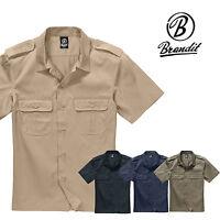 Brandit Us Shirt Safari Men's short Sleeve Work Leisure Armyhemd