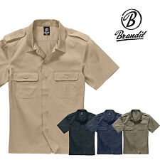 Brandit US Hemd Safarihemd Herrenhemd Kurzarm Arbeitshemd Freizeithemd Armyhemd