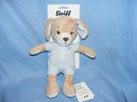 Steiff New Baby Good Night Dog Blue Soft Body Plush Gift Present Christening