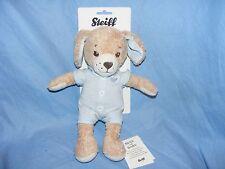 Steiff New Baby Good Night Dog Blue Soft Body Plush Gift Present Christening
