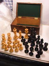 "STAUNTON CHESS SET WEIGHTED 4"" INCH & WOODEN BOX"