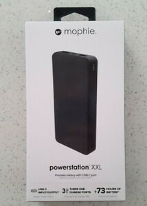 Mophie PowerStation XXL 20000 mAh POWER BANK USB-C 3 Charge Ports 73+ HR 20k amp