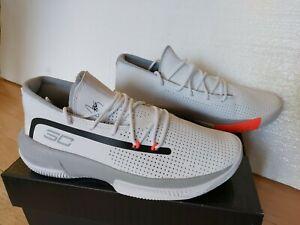 NEW* Under Armour Steph Curry SC 3Zero III Size 9 White Grey 3022048-100 SC30 UA
