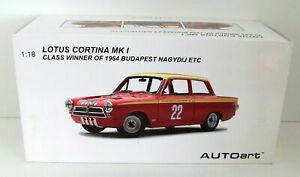 AUTOART 1/18 86427 LOTUS MK1 BUDAPEST #22 1964 WINNER