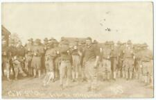 """Indianapolis Indiana IN ~ Company """"M""""  8th Ohio Soldiers RPPC Real Photo  1914"""