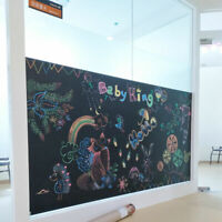 Wall Sticker BLACK Large CHALKBOARD Removable Kid Home School Remote Learn Chalk