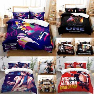 Michael Jackson Duvet Cover Set 2/3 Pcs Hd Printing Bedding Set Pillowcase