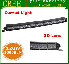 25inch 120W Curved LED Light Bar Single Row SPOT Lamp Driving Offroad 4WD 24/26