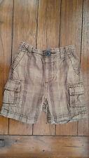 George Asda boys brown check shorts Age 12-18 months