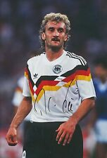 GERMANY HAND SIGNED RUDI VOLLER 12X8 PHOTO.