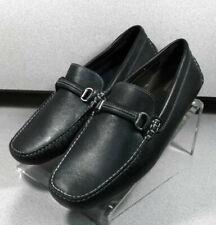 258415 SP50 Men's Shoes Size 9 M Black Leather Driving Shoes Johnston & Murphy