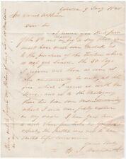 # 1840 CURVED GIBRALTAR PAID W? ARROWSMITH LETTER > DANIEL McPHERSON CADIZ SPAIN