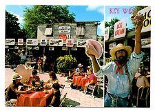 Key West Florida Postcard Mallory Market Conch Shells Statue Fishermans Cafe