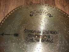 "O du fröhliche Kalliope Blechplatte 36cm Platte antique christmas disc 14,5"""
