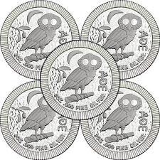 2018 Niue Silver Owl of Athena Stackables 1oz .999 Silver Coin 5pc