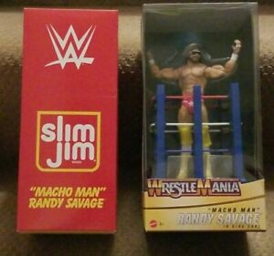 2019 SDCC MATTEL WWE MACHO MAN SLIM JIM EXCLUSIVE & '20 WRESTLEMANIA CELEBRATION